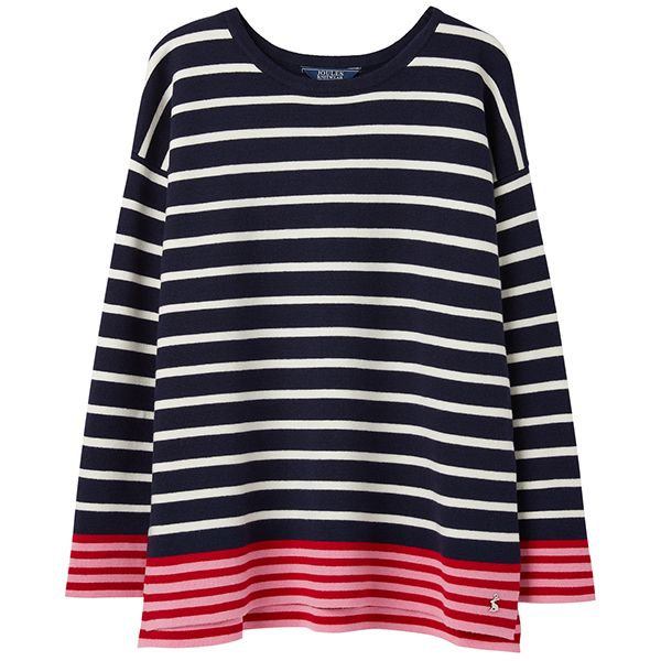 Joules Uma French Navy Boat Neck Jumper
