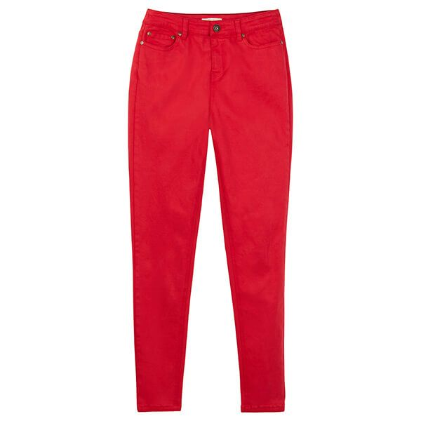 Joules Monroe Red High Rise Stretch Skinny Jeans
