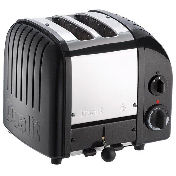 Dualit Classic Vario AWS Satin Black 2 Slot Toaster with FREE Gift
