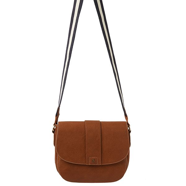 Joules Bridport Bright Tan Faux Leather Saddle Cross Body