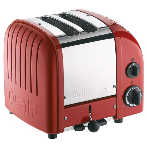 Dualit Classic Vario AWS Red 2 Slot Toaster with FREE Gift