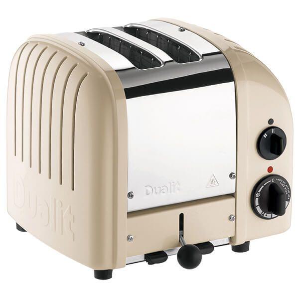 Dualit Classic Vario AWS Utility Cream 2 Slot Toaster with FREE Gift