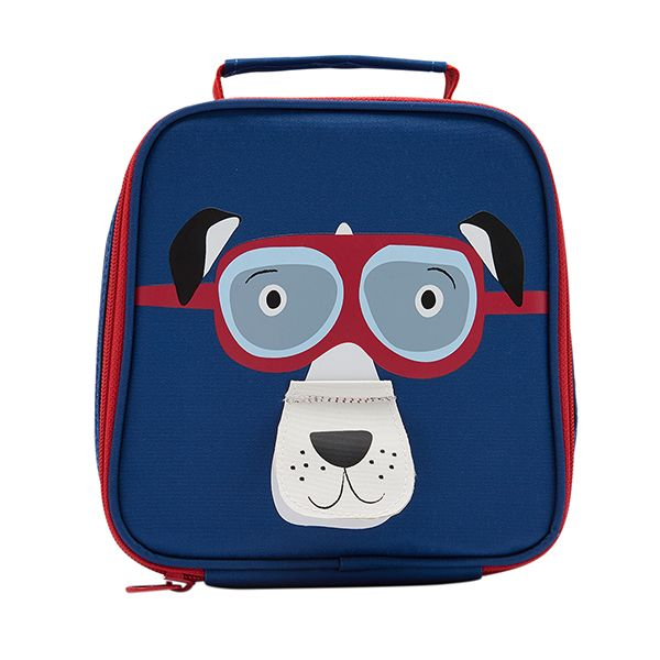 Joules Munch Dark Blue Dog Lunch Bag