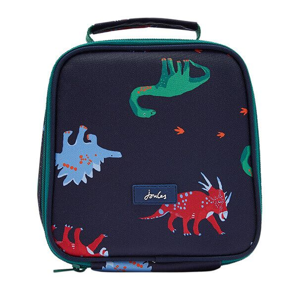 Joules Munch Navy Dinos Lunch Bag