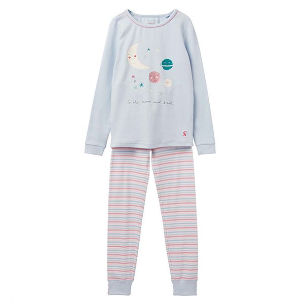 Joules Sleepwell Blue Moon and Back Pyjama Set