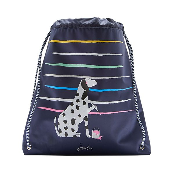 Joules Active Navy Dalmatian Drawstring Bag