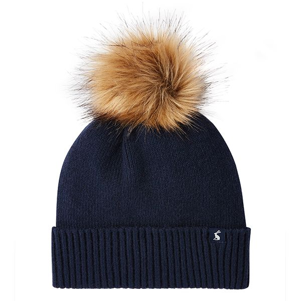 Joules Snowday French Navy Lightweight Knitted Hat