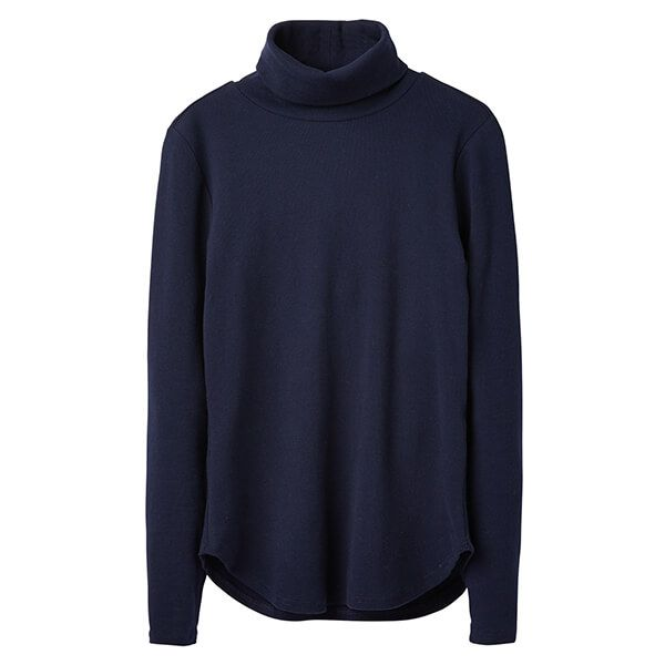Joules Clarissa French Navy Roll Neck Jersey Top