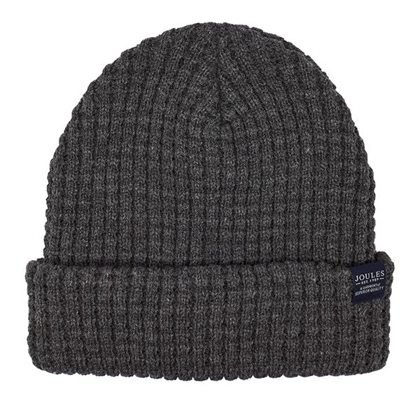 Joules Bamburgh Grey Knitted Hat