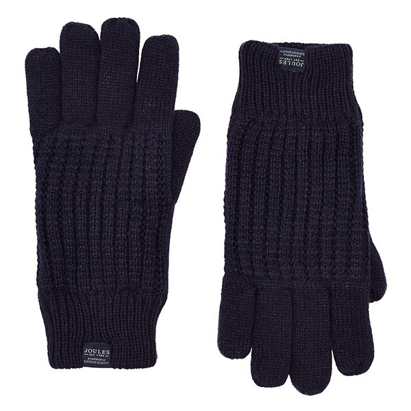 Joules Bamburgh Midnight Cable Knit Gloves