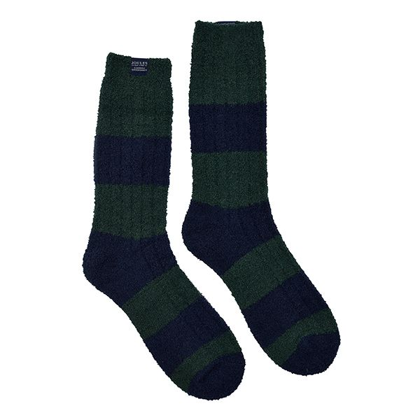 Joules Deep Emerald Supersoft Fluffy Socks Size 7-12
