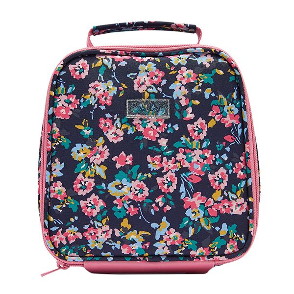 Joules Munch Navy Ditsy Floral Girls Lunch Bag