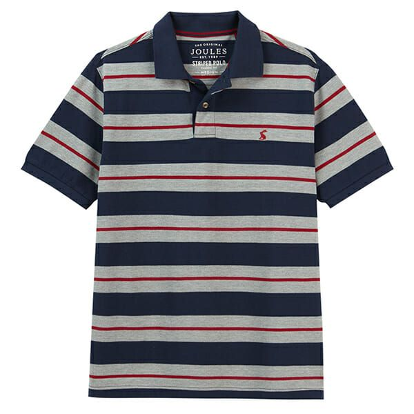 Joules Filbert Navy Marl Stripe Striped Classic Fit Polo
