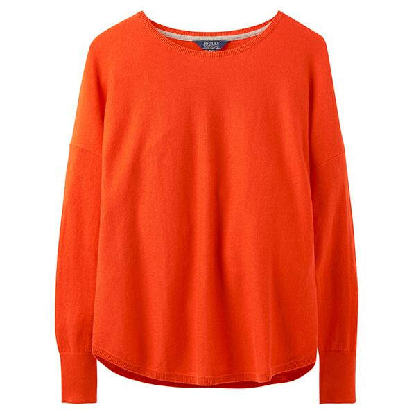 Joules Poppy Canteloupe Orange Round Neck Jumper