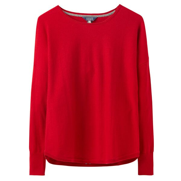 Joules Poppy Red Round Neck Jumper