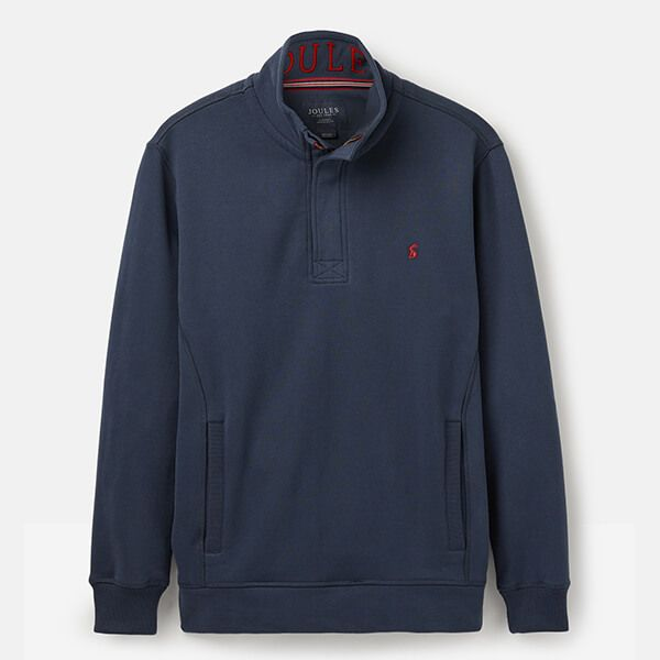 Joules Deckside Navy Half Zip Sweatshirt
