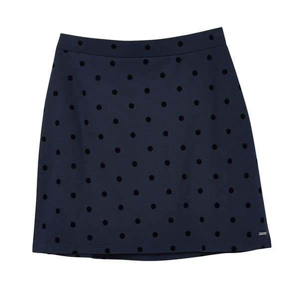 Joules Hatty Navy Spot Pull On A Line Skirt