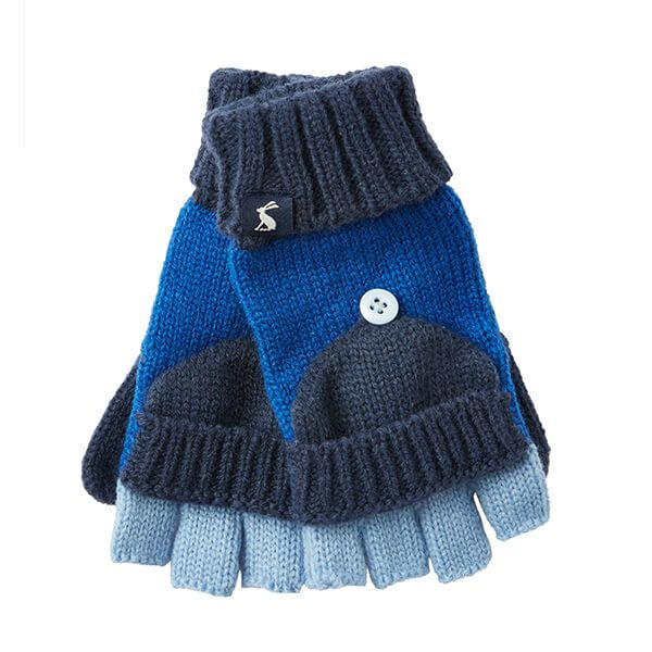 Joules Handy Dark Blue Converter Gloves