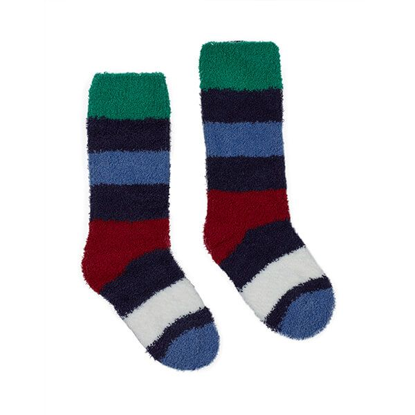 Joules Fab Fluffy Multi Stripe Fluffy Socks
