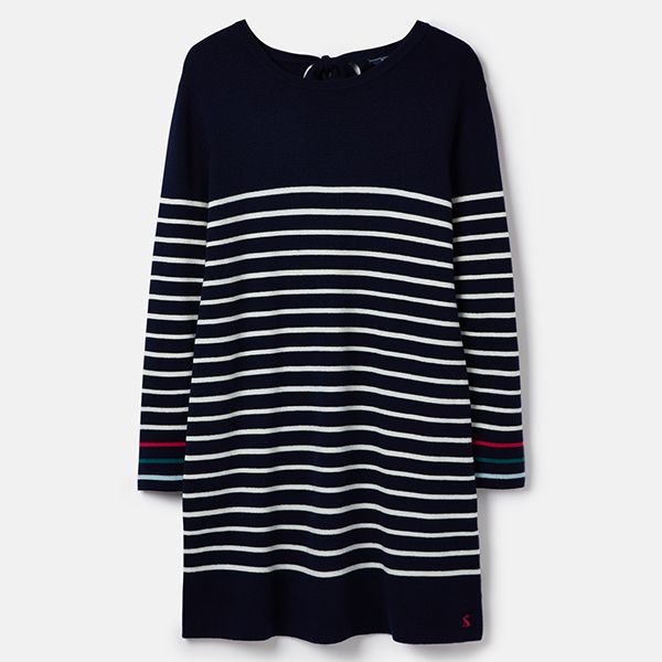 Joules Estelle Navy Cream Knitted Long Sleeve Tunic