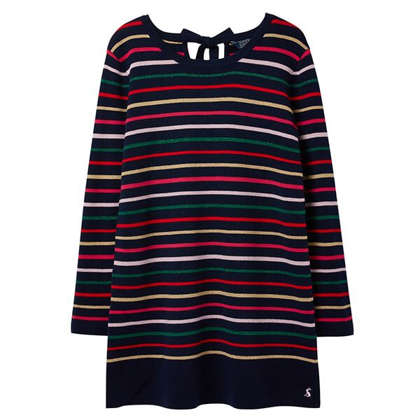Joules Estelle Navy Stripe Knitted Long Sleeve Tunic
