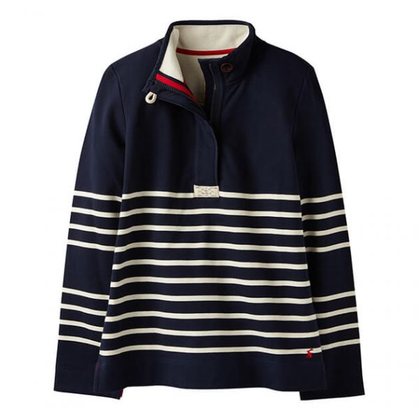 Joules Saunton Navy Stripe Classic Sweatshirt