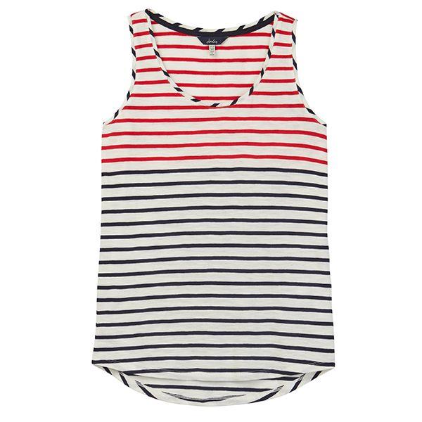 Joules Bo Stripe Cream Red Blue Stripe Jersey Vest
