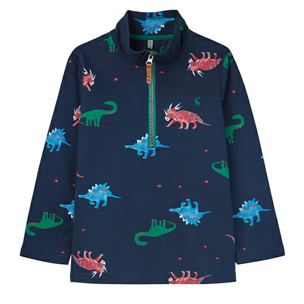 Joules Dale Dark Blue Dinos Printed Overhead Sweat
