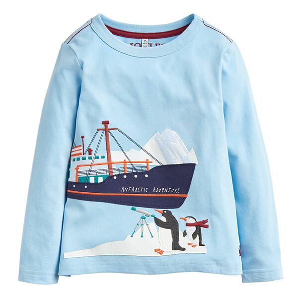 Joules Jack Blue Ship Applique T-Shirt