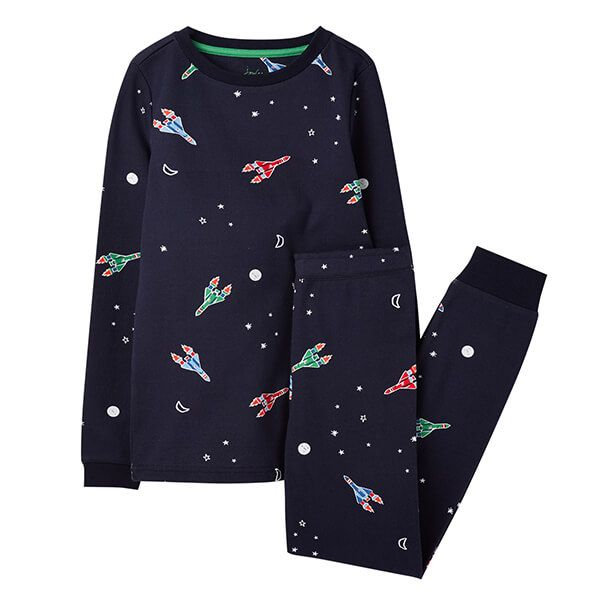 Joules Snooze Navy Rockets PJ Set