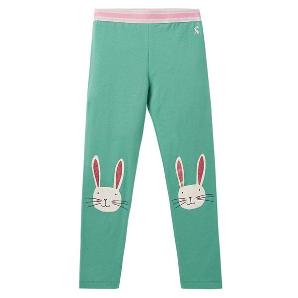 Joules Wilde Green Bunny Character Knee Leggings