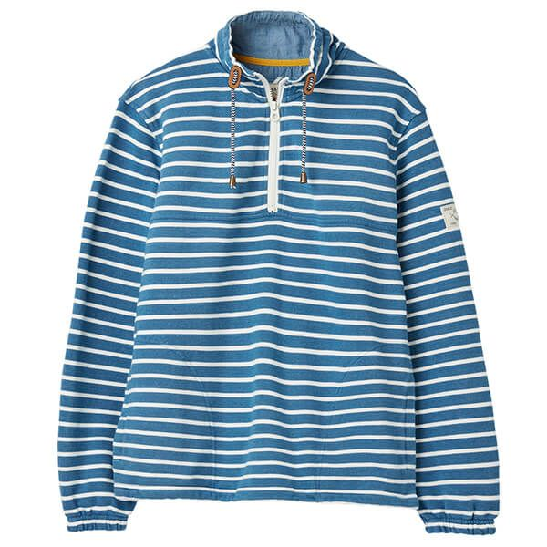 Joules Bewley Salt Casual Half Zip Sweatshirt