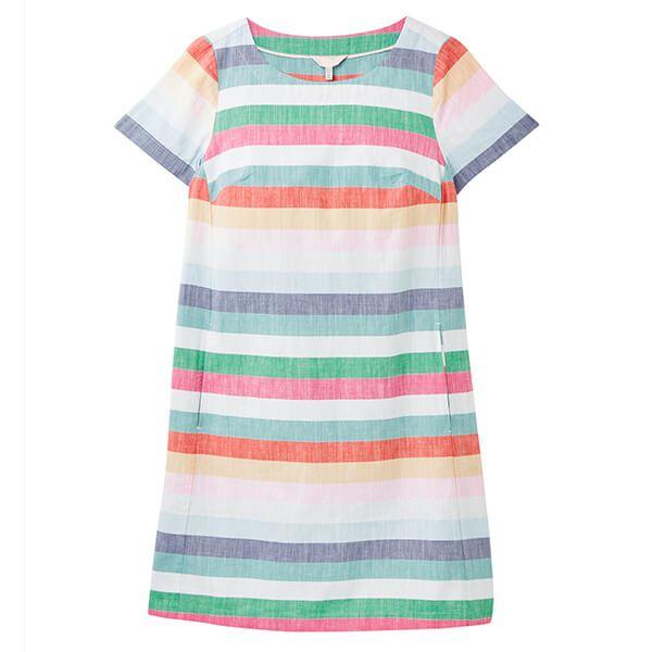 Joules Fifi Print Multi Stripe Shift Dress