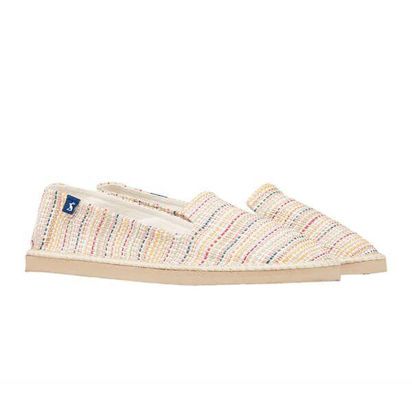 Joules Cream Multi Stripe Flipadrille Lightweight Summer Shoes