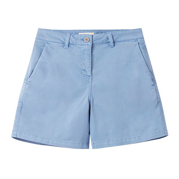 Joules Blue Cruise Mid Thigh Length Chino Shorts Size 12