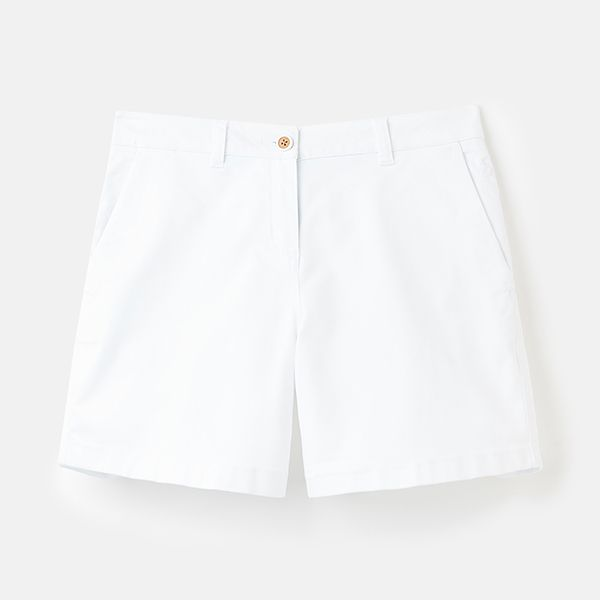 Joules Bright White Mid Thigh Chino Shorts