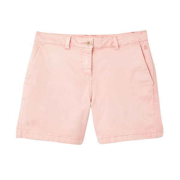 Joules Pale Pink Cruise Mid Thigh Length Chino Shorts