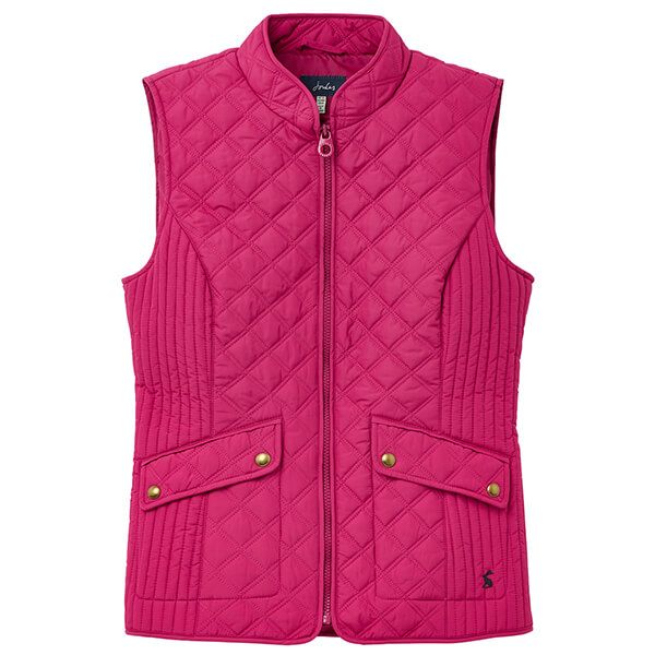 Joules Berry Minx Quilted Gilet