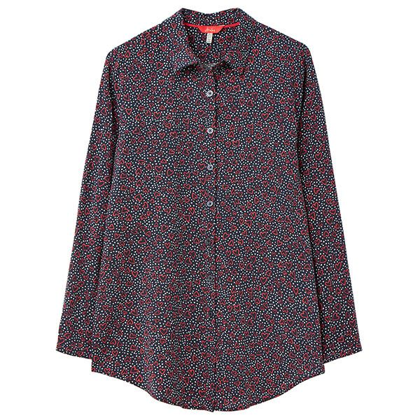 Joules Dotty Heart Elvina Button Front Woven Shirt