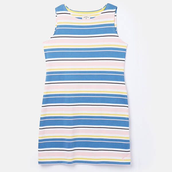 Joules Blue Yellow Star Riva Sleeveless Jersey Dress