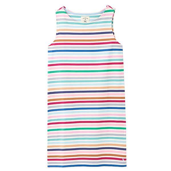 Joules Riva Multi Stripe Sleeveless Jersey Dress