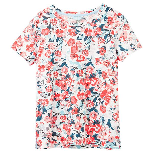 Joules Cream Floral Carley Print Classic Crew