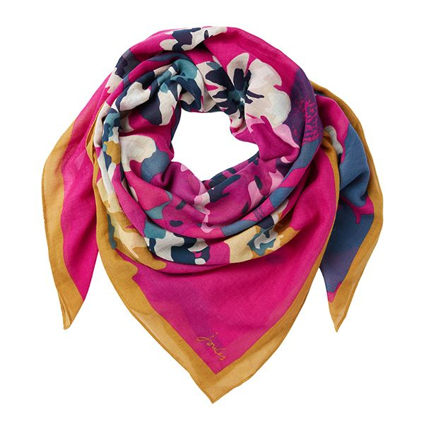 Joules Atmore 30th Anniversary Anniversary Floral Printed Square Scarf