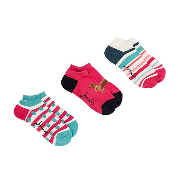 Joules Red Dog Multi Rilla Bamboo Socks Size 4-8