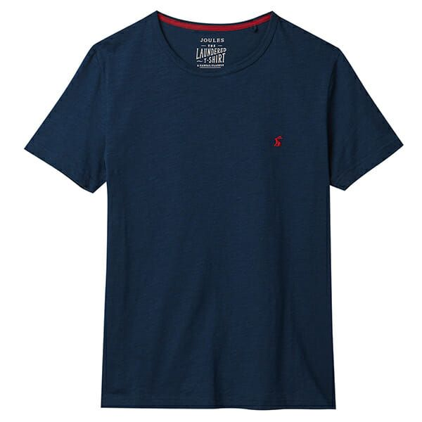 Joules Denton French Navy Solid Crew Neck Tee