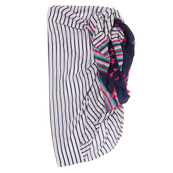 Joules Blue Summer Stripe Sirena Sarong