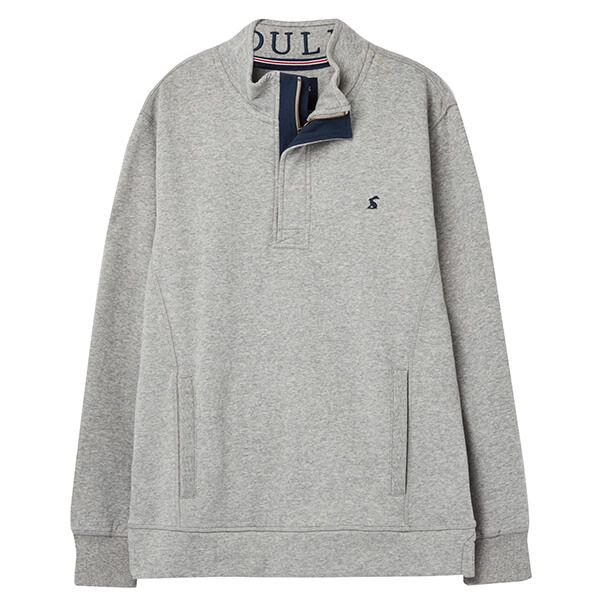 Joules Grey Marl Deckside Half Zip Sweat