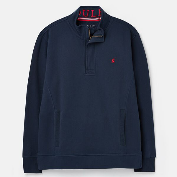 Joules Navy Deckside Half Zip Sweat