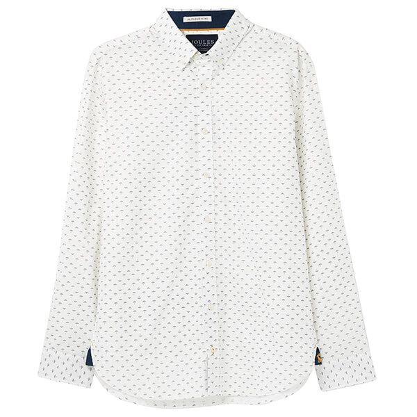 Joules Invitation Classic Long Sleeve Classic Fit Printed Shirt