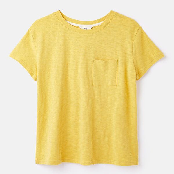 Joules Yellow Sofi T-Shirt With Pocket